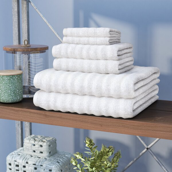 Knopf 6 Piece 100% Cotton Towel Set by Zipcode Design